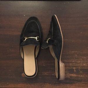 Topshop Black Backless Mule loafer shoes